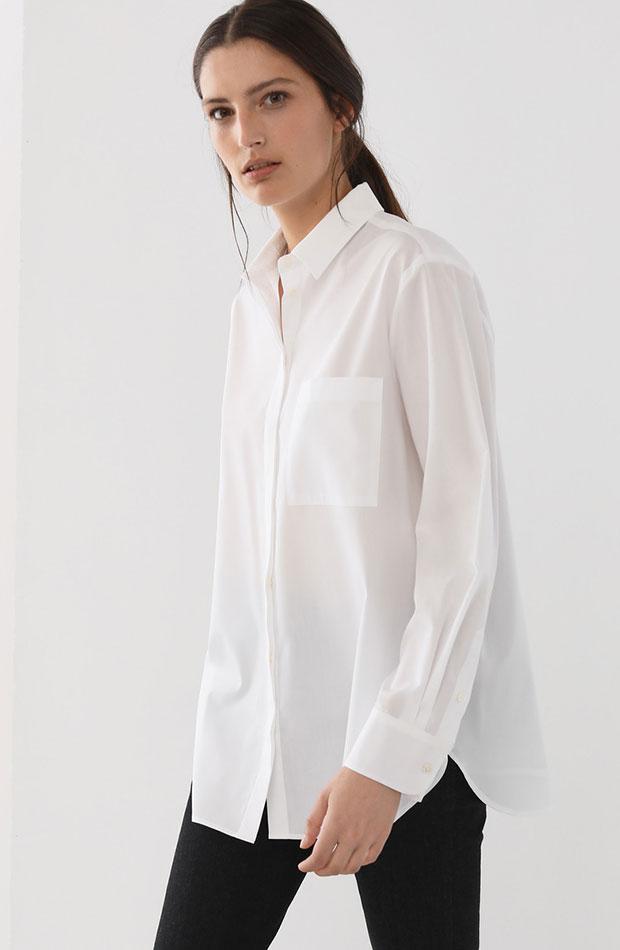 looks de oficina camisa blanca