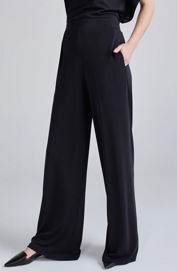 looks de oficina pantalones amplios