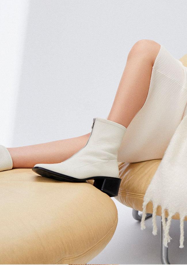 novedades de mango botas blancas
