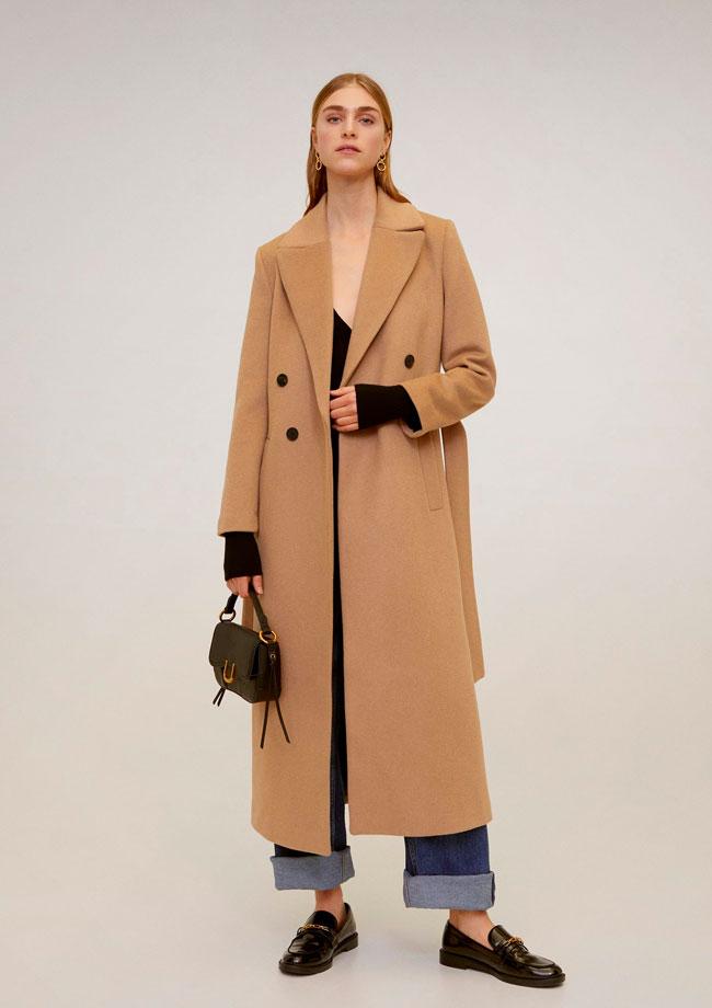 novedades de mango abrigo de lana