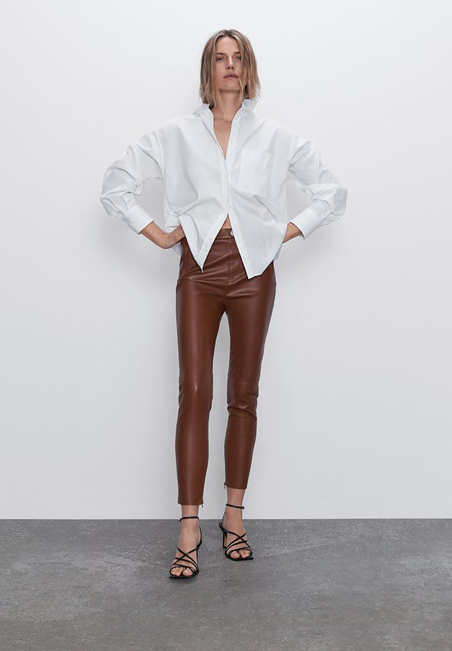 Leggings efecto piel de las Novedades de Zara primavera 2020