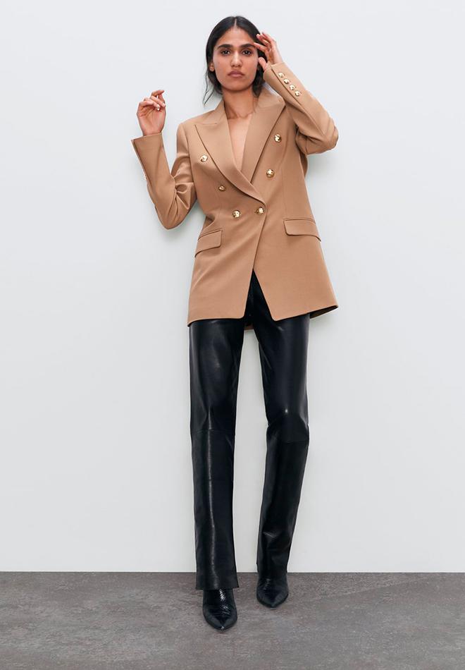 Pantalones de piel de Zara