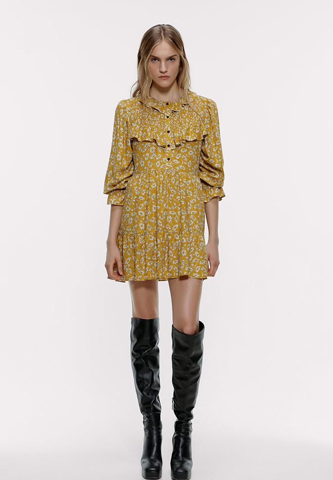 Vestido de flores de las Novedades de Zara primavera 2020