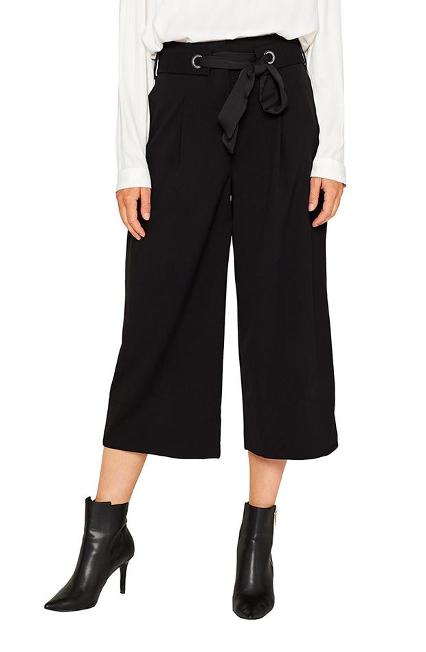 bermudas culotte en color negro espirit