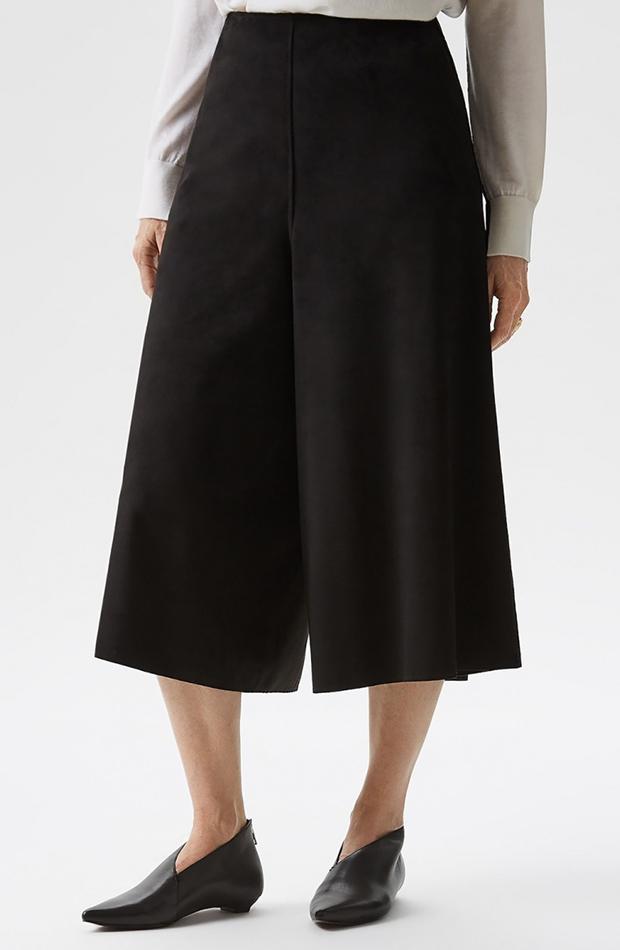 bermudas en color negro culotte Adolfo Domínguez El Corte Inglés