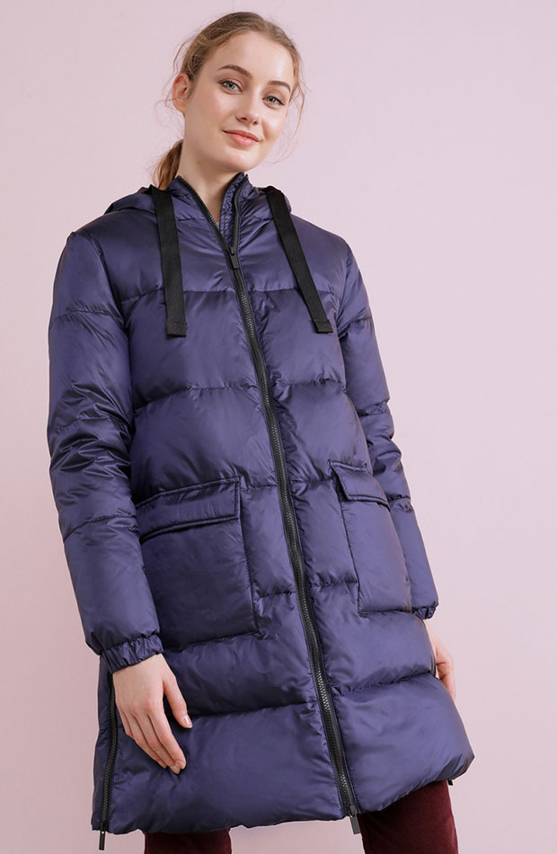 abrigos de rebajas plumifero largo