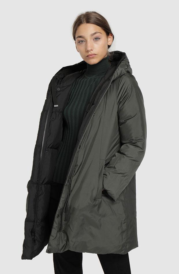 abrigos de rebajas plumifero reversible