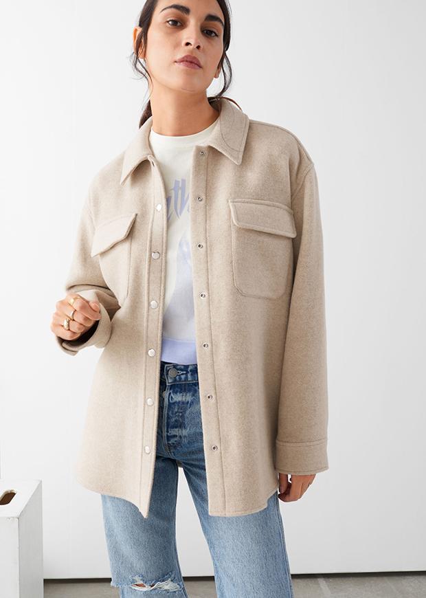 Chaqueta de lana oversize de & Other Stories