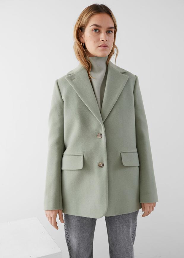 Blazer de lana verde de & Other Stories