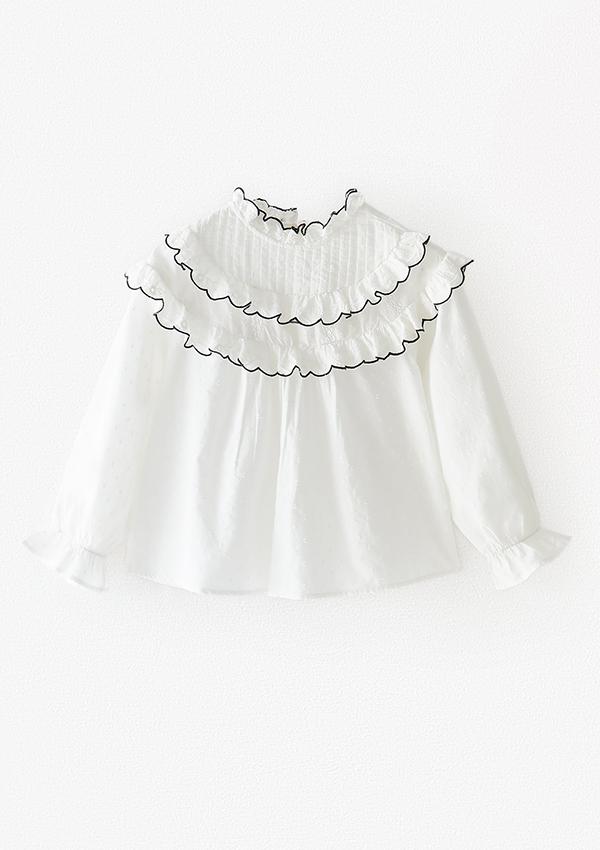 Camisa con pespuntes de Zara Kids