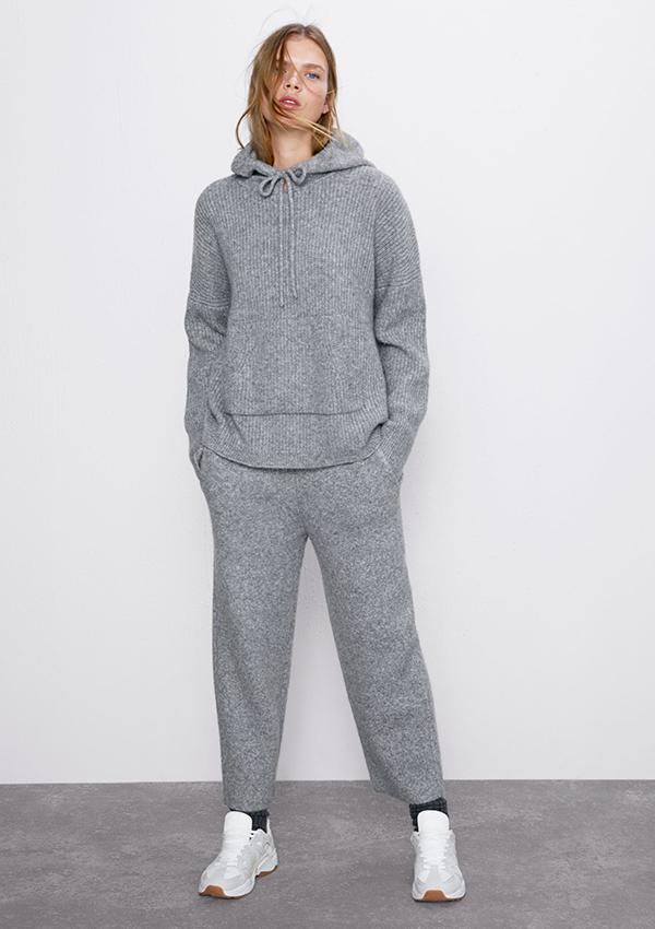 Conjunto de punto gris de Zara