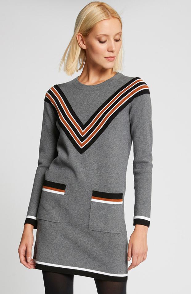 vestido mini con líneas Morgan