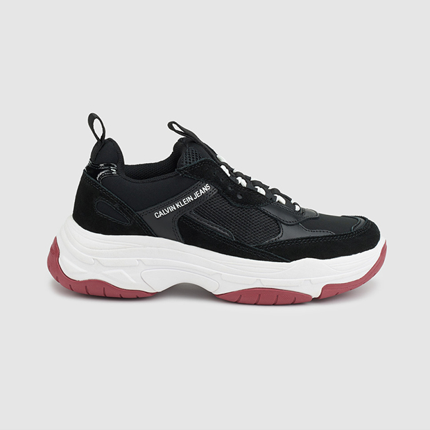 zapatillas en tendencia Calvin Klein en color negro