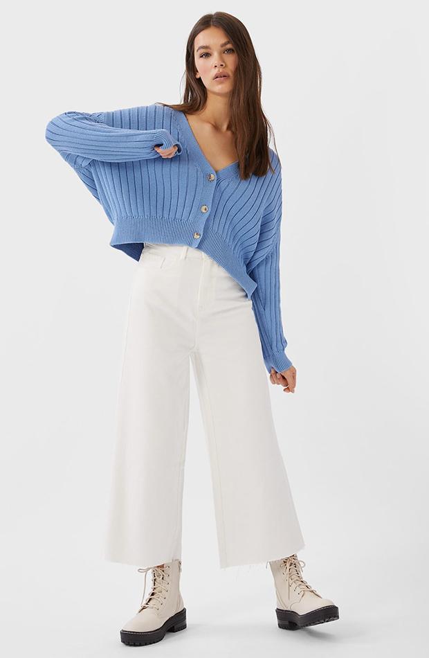 jerseis cortos básico azul Stradivarius