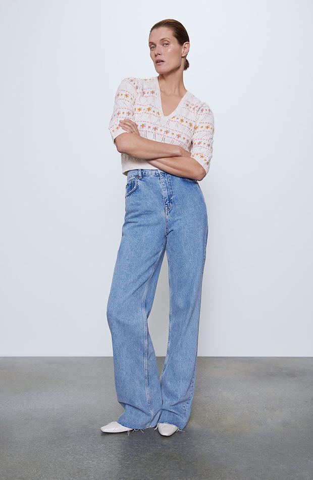jersey con pompones de Zara