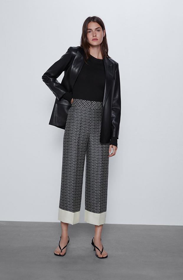 pantalones estampados culotte satinados