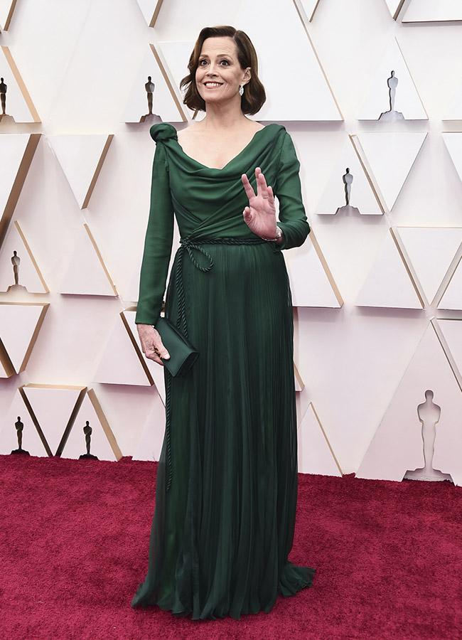 Sigourney Weaver en los Premios Oscar 2020