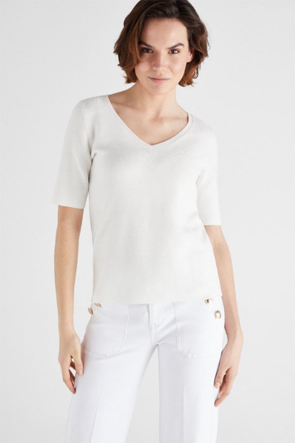 Jersey blanco de Cortefiel