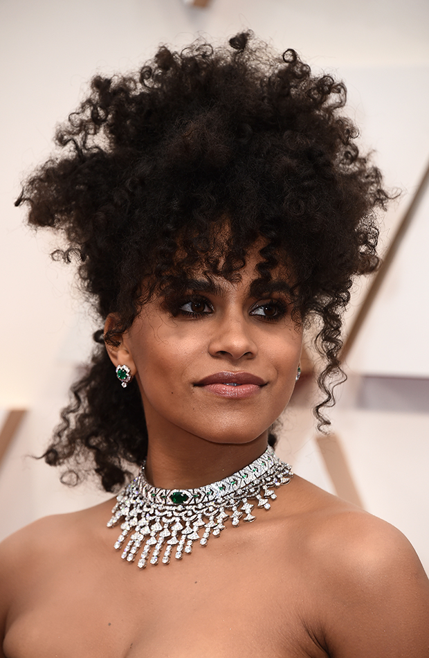 Zazie Beetz Looks Beauty Oscar 2020