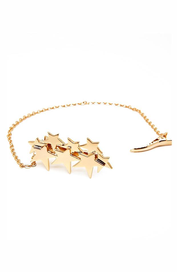 accesorios para el pelo invitada pasador starlite desing de estrellas doradas