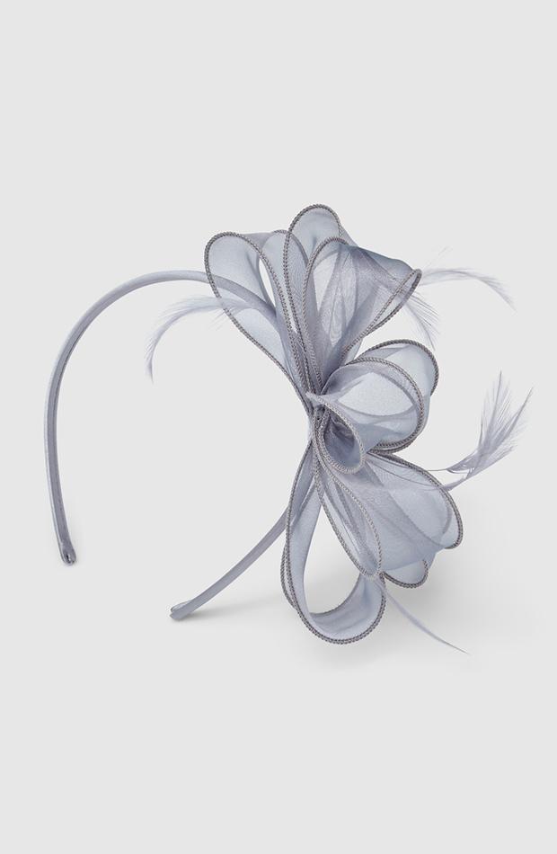 accesorios para el pelo invitada tocado diadema el corte ingles en gris con lazo