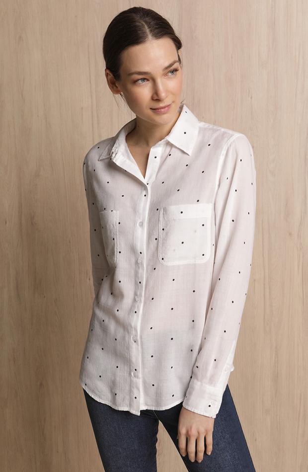 Camisa con topos Woman El Corte Inglés estilos de camisa