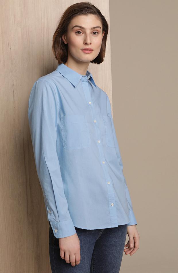 Camisa 100% algodón con bolsillos Woman El Corte Inglés