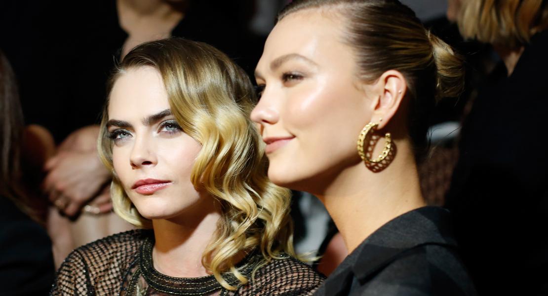 estilo de maquillaje natural y glam Cara Delevigne Karlie Kloss