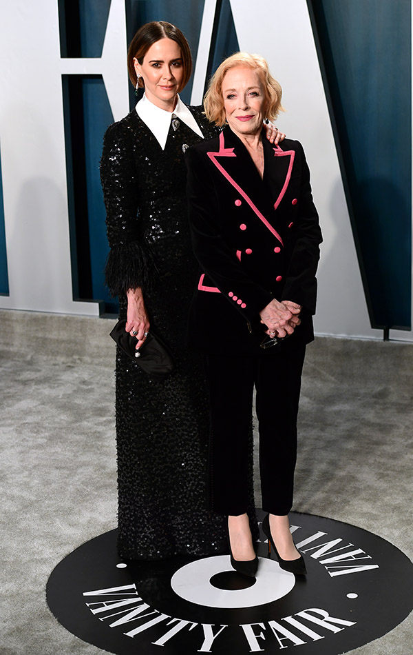 Sarah Paulson y Holland Taylor en la Vanity Fair Oscar Party 2020