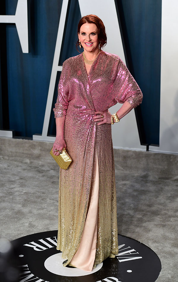 Megan Mullally en la Vanity Fair Oscar Party 2020