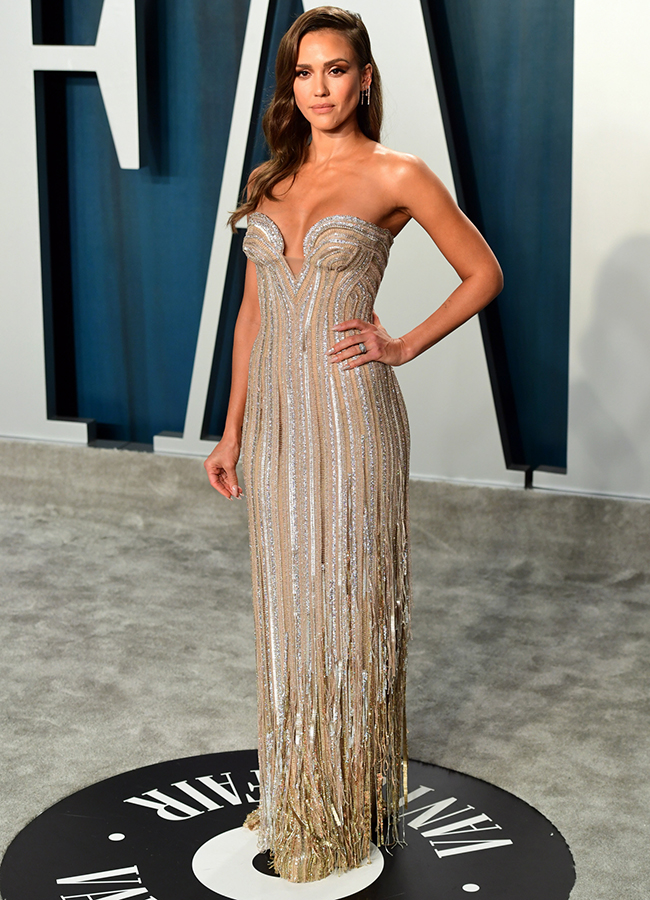 Jessica Alba en la Vanity Fair Oscar Party 2020