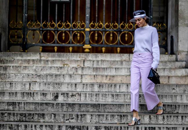 lila color tendencia de la primavera