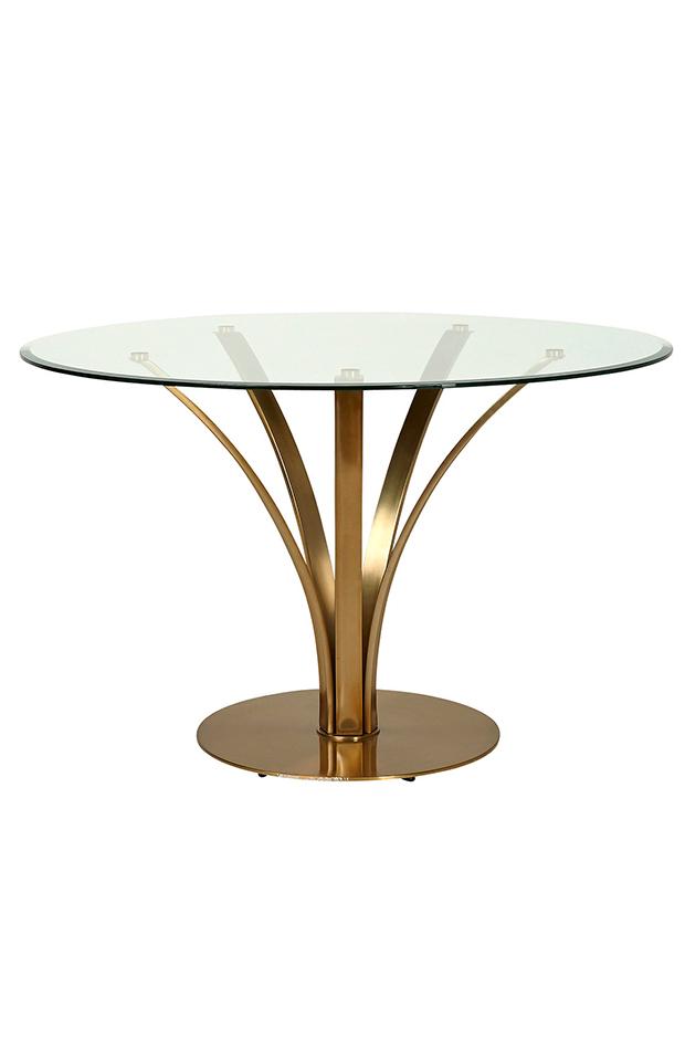 ideas deco primavera mesa de comedor de cristal redonda florida el corte ingles