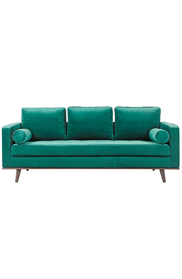 ideas deco primavera sofá tapizado en terciopelo de 3 plazas coimbra el corte ingles