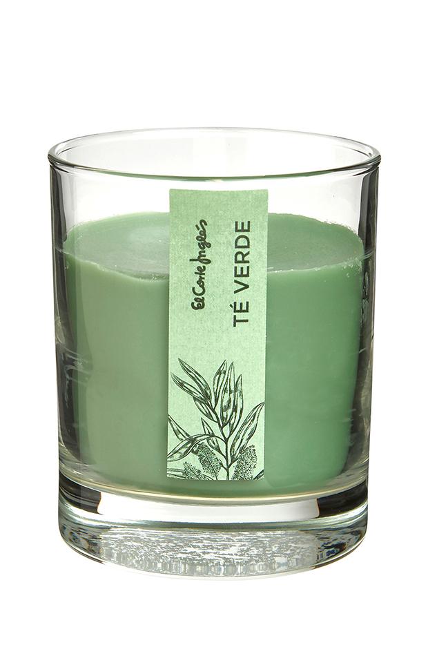 ideas deco primavera vela en vaso te verde el corte ingles
