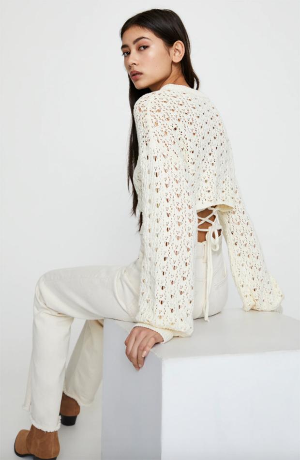 jerseis cortos diseno calado manga abullonada Pull and Bear