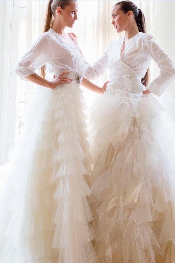 Vestido novia Lorenzo Caprile volantes