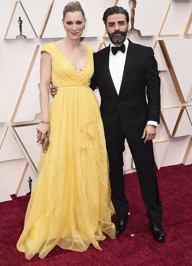 Elvira Lind y Oscar Issac en los Premios Oscar 2020