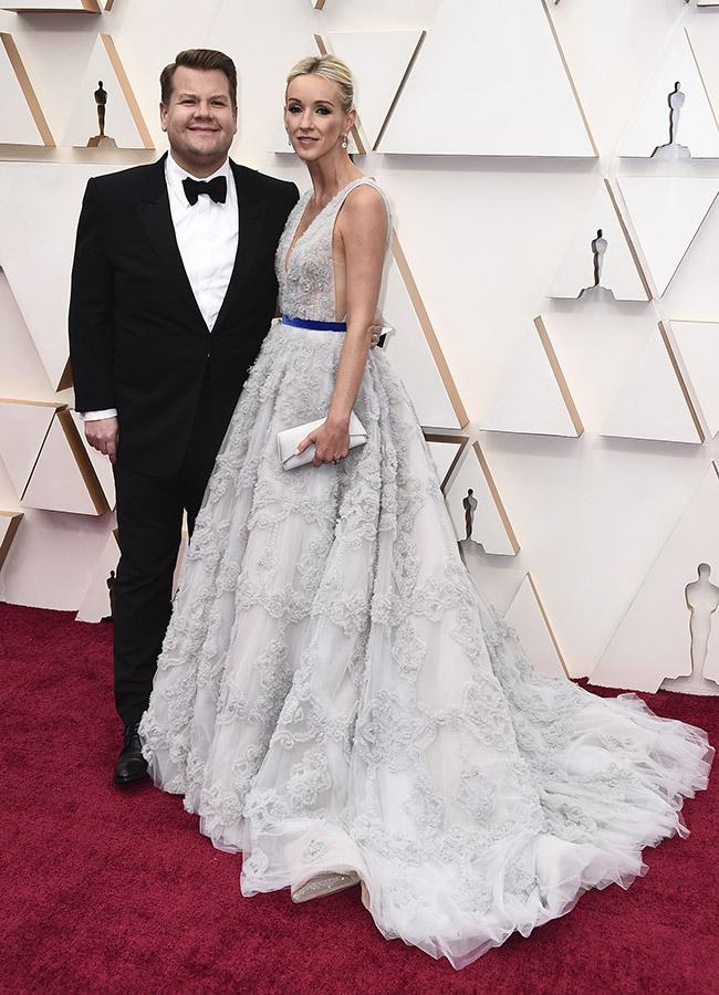 James Corden y Julia Carey en los Premios Oscar 2020