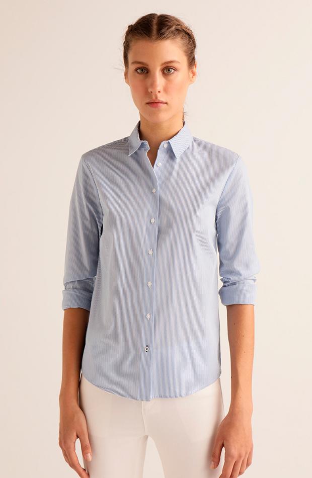 prendas de primavera camisa rayas manga larga easy wear