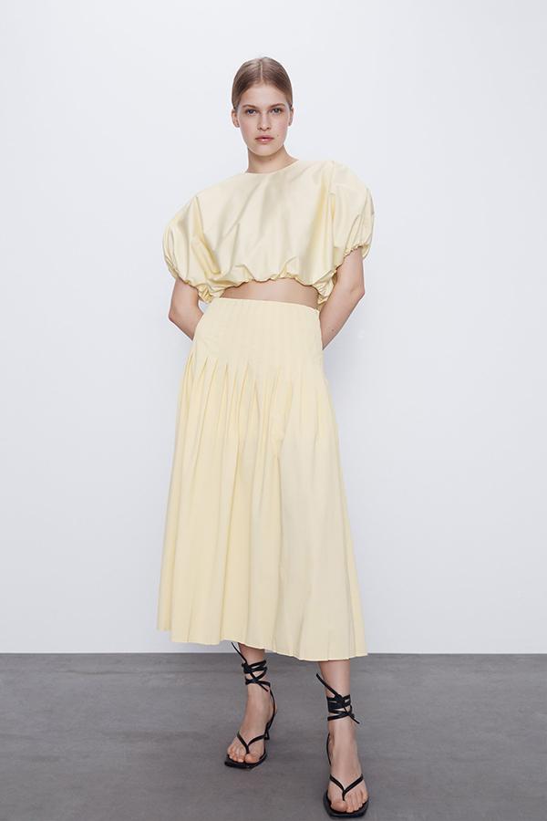 Cuerpo corto amarillo de Zara