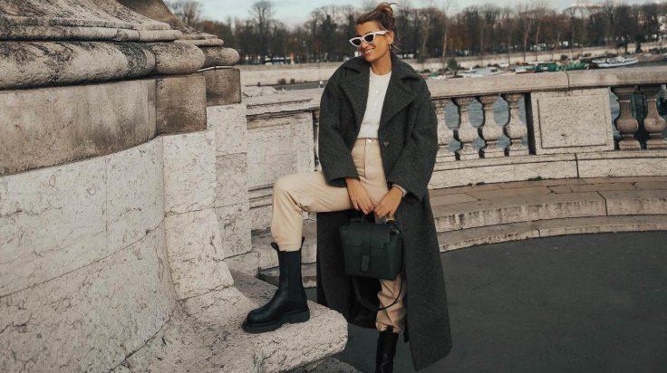 Bartabac tendencia botas militares abrigo oversize