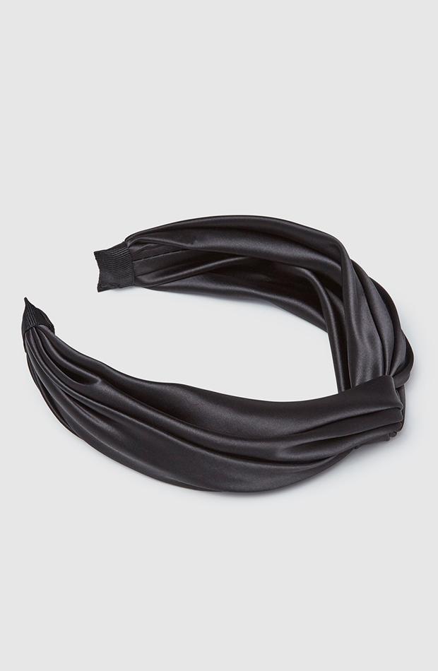tocado diadema el corte inglés en negro con acabado satinado accesorios para el pelo invitada