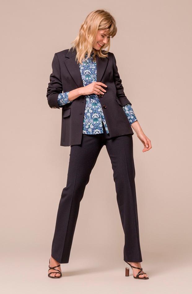 trajes pantalón básico liso mujer mirto