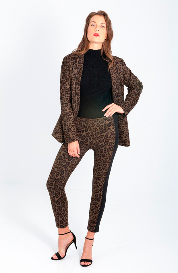 trajes pantalon estampado animal print leopardo smash