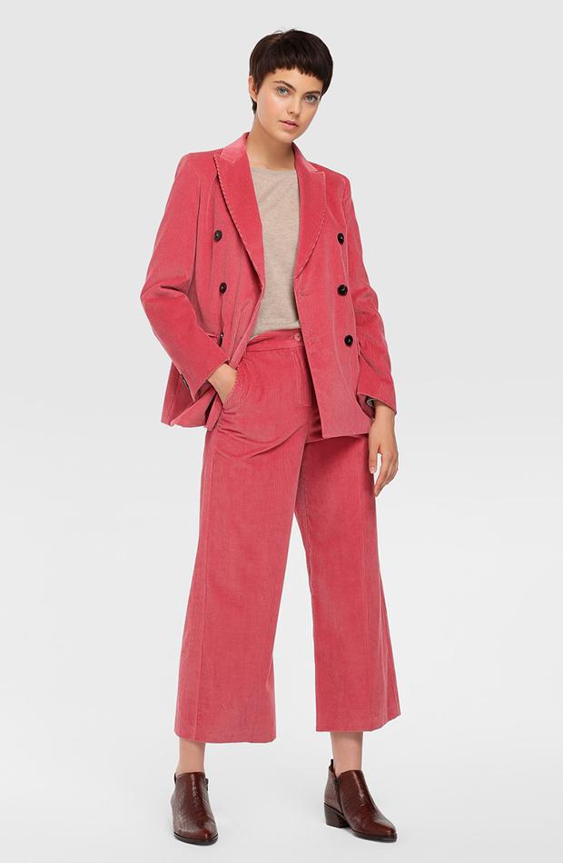 trajes pantalón pana rosa max mara