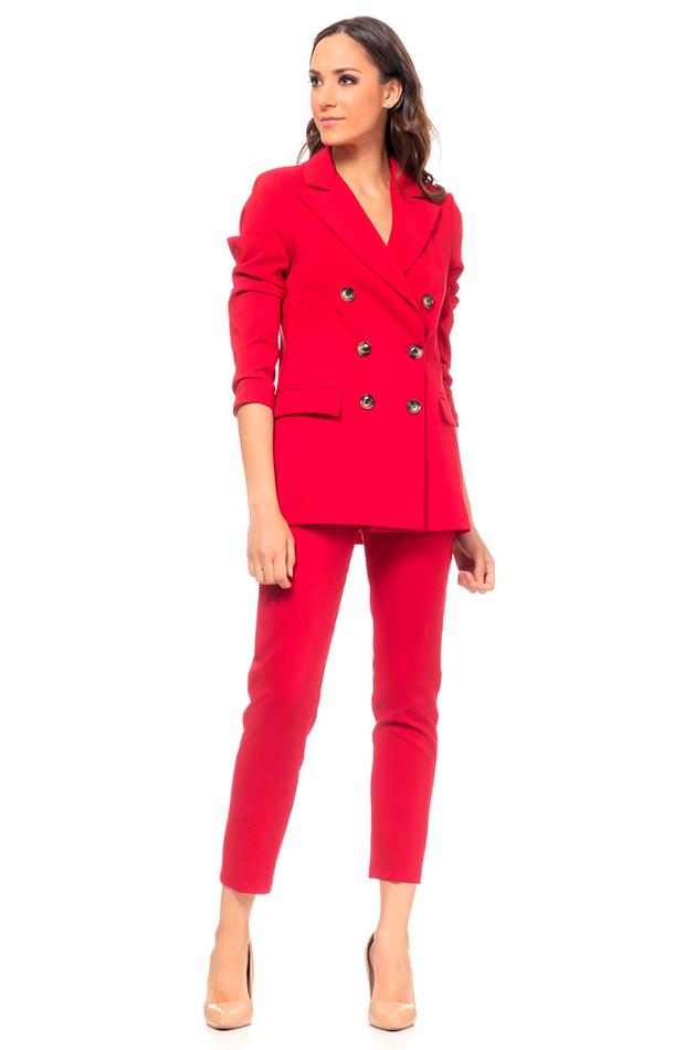 trajes pantalón rojo doble botonadura tantra