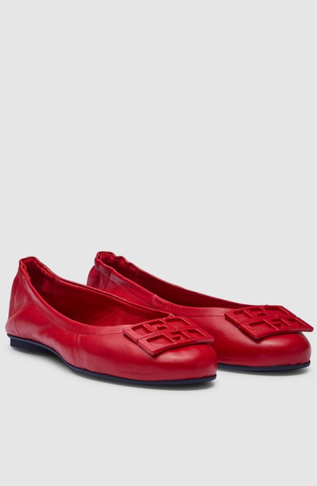 zapatos entretiempo bailarinas rojas