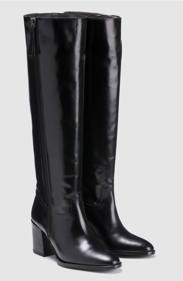 zapatos entretiempo bota negra