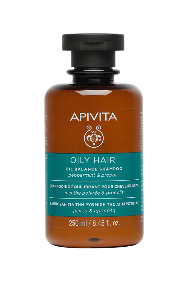 tratamientos para el pelo Champú Equilibrante Cabello Graso Menta & Propóleo Apivita